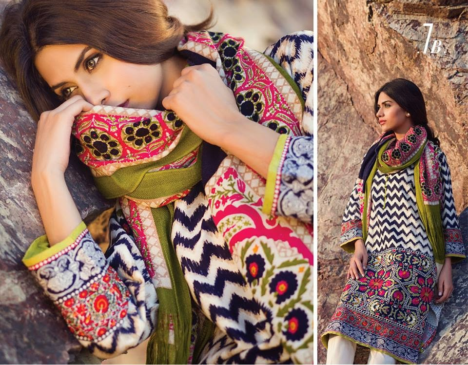 Winter Shawl Collection 2014-2015 by Sana Safinaz