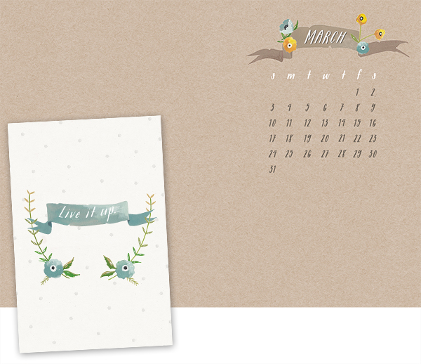 Calendar Wallpaper Ipad : Oh the lovely things march desktop calendar free iphone