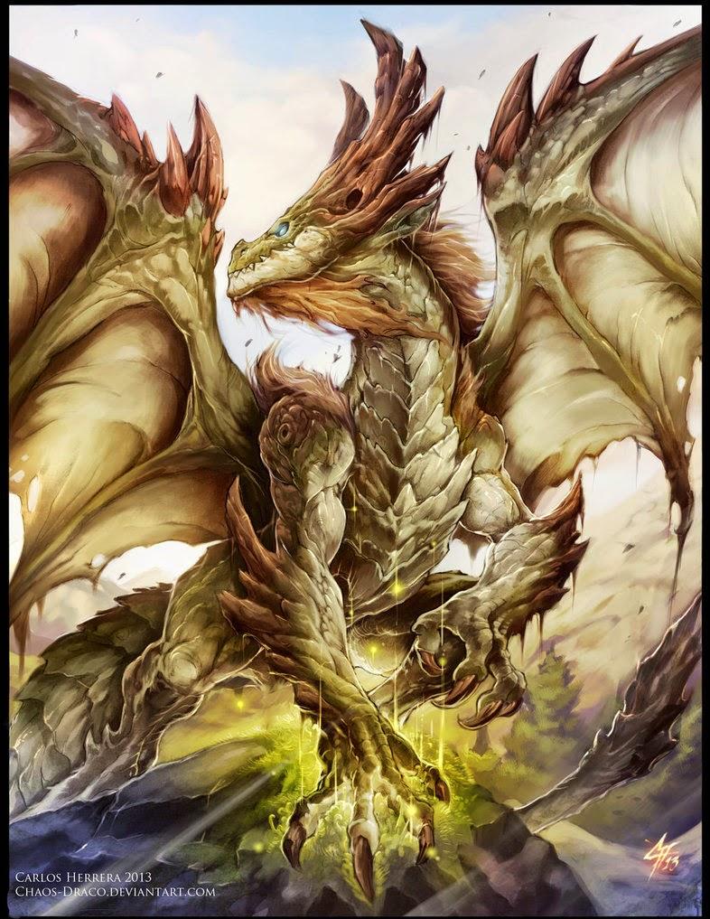 Magical dragon art