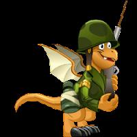 Dragon soldado juvenil o adolescente