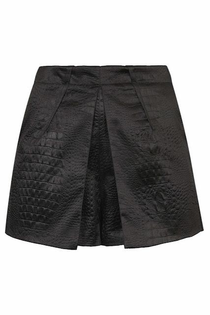black skort topshop