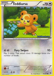 Teddiursa Plasma Blast Pokemon Card