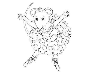 #6 Angelina Ballerina Coloring Page