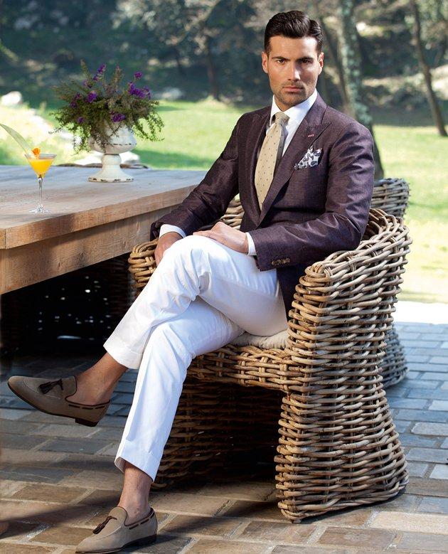 Belgian Dandy: White Pants for Men 2012