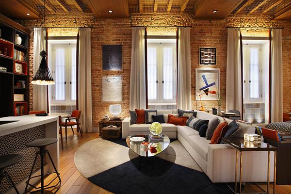 Decoración fácil: apartamento de concepcion abierta con paredes en ...