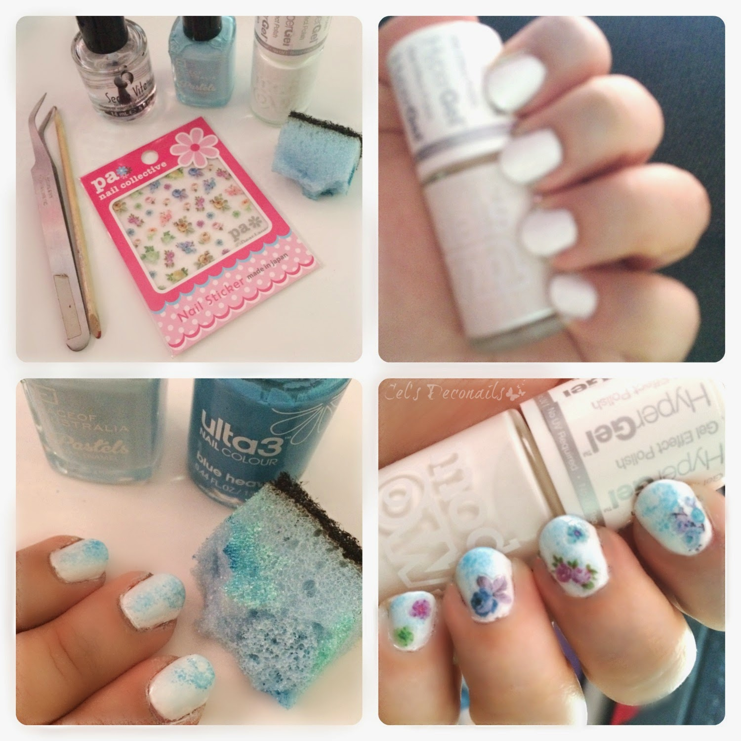 Fashion inspired summer nail art tutorial