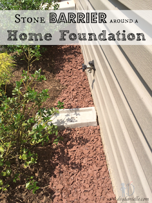 Stone Barrier around a Home Foundation