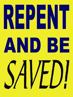 Repent and Be Saved Poster