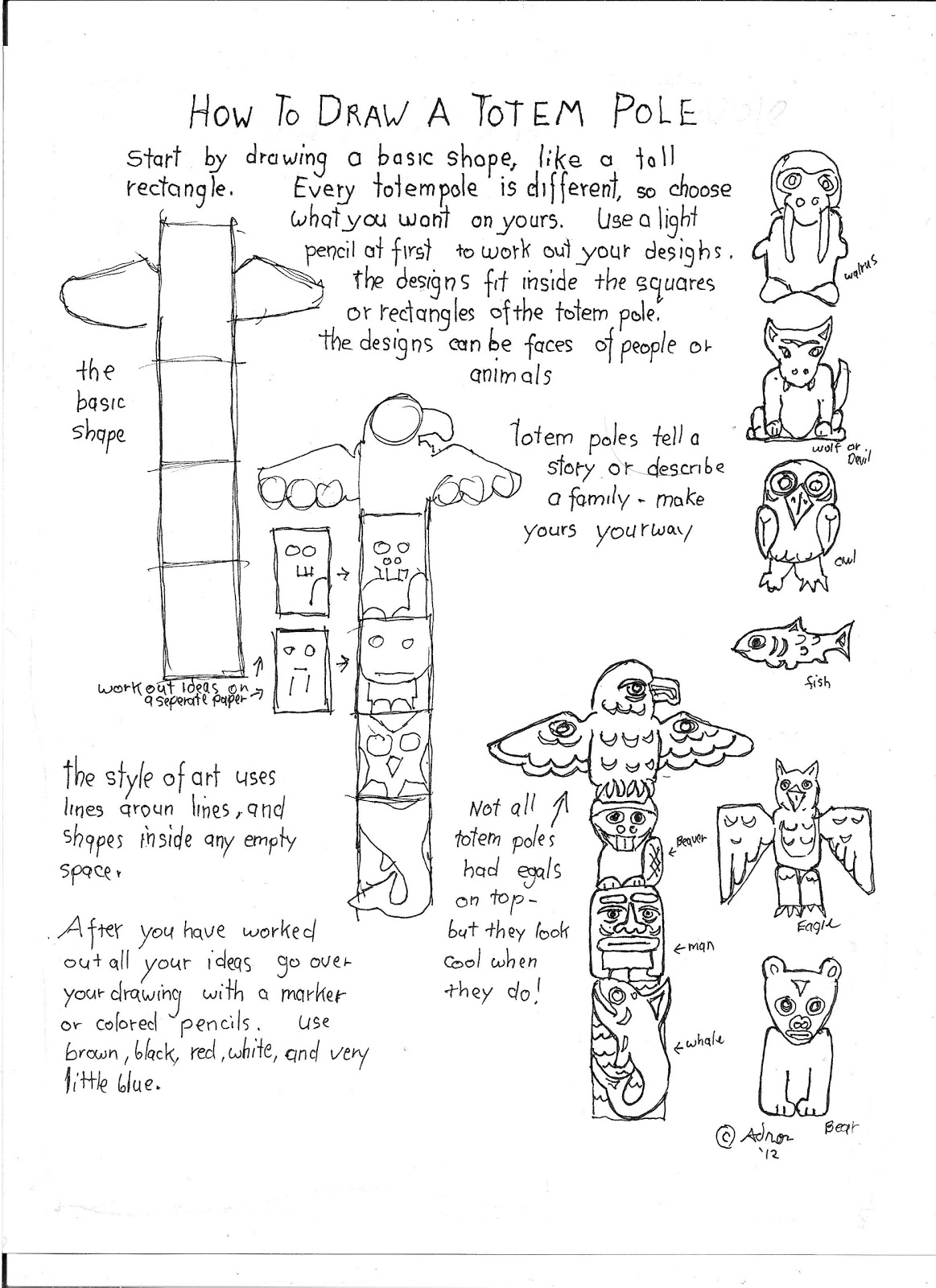 How To Draw Worksheets For The Young Artist A
