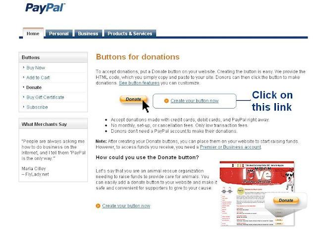 donate create button
