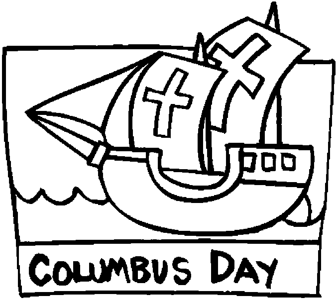 free columbus day coloring pages - photo#6