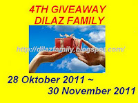 4th GIVEAWAY DILAZFAMILY