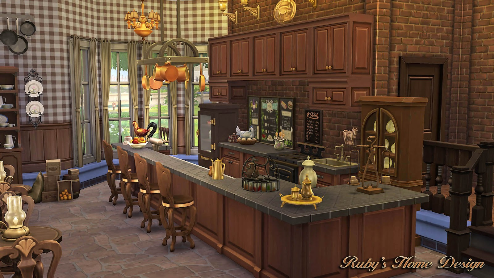 Sims Kitchen Grandmas Kitchen Sims 4 Houses