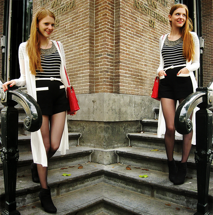 Outfit fashion blogger Urban Outfitters Sans-Online Vila Monochrome Amsterdam Opening