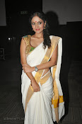 Actress Nivitha Glamorous photos in Saree-thumbnail-12