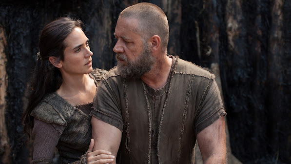 jennifer connelly as naameh and russell crowe as noah movie