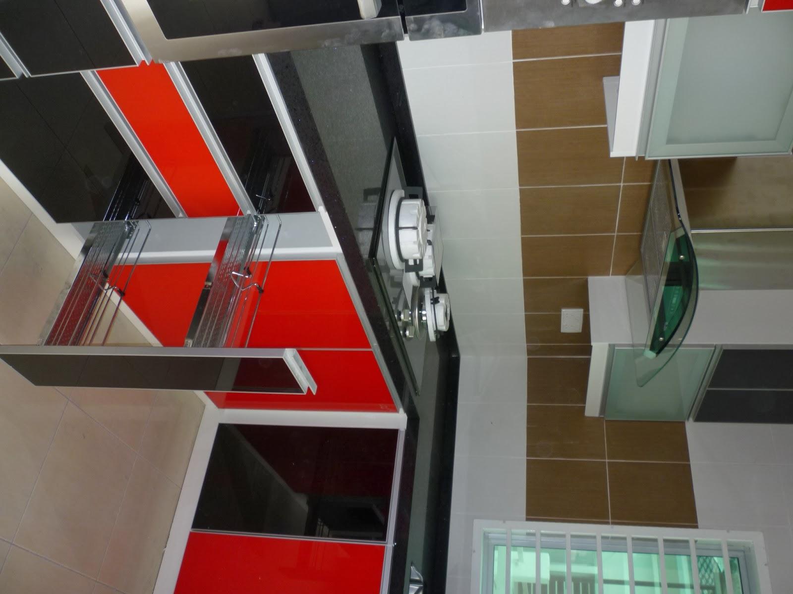 Nova kitchen deco sdn bhd kitchen cabinet in trimx for Black kitchen carcasses