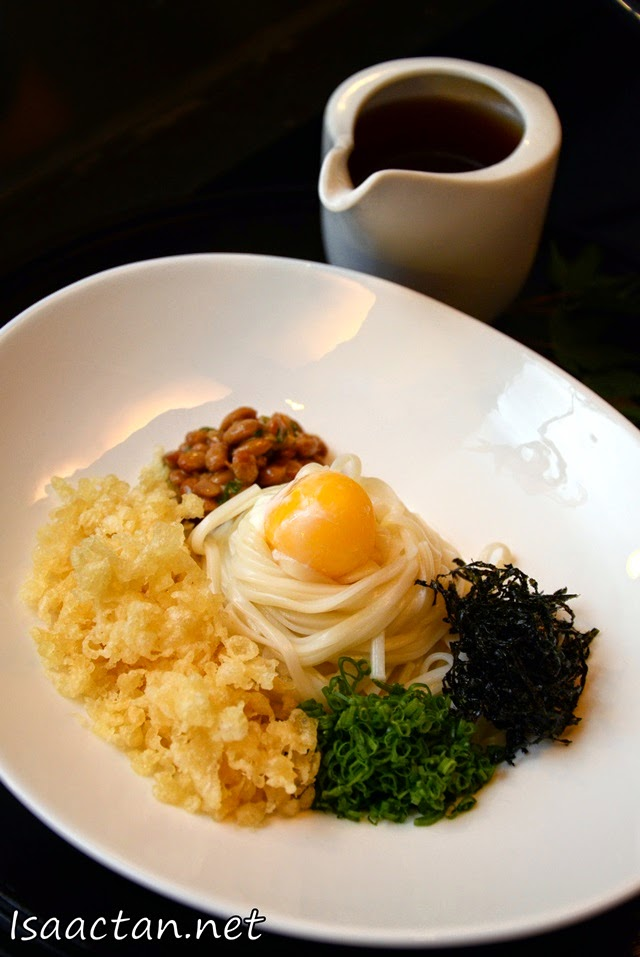 #2 Hiyashi Natto Inaniwa (Cold Japanese Flat White Noodle with Fermented Beans) - RM38