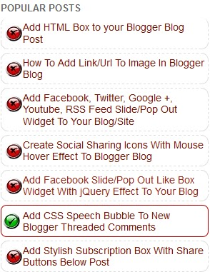 Customize Blogger Official Popular Posts Widget With CSS
