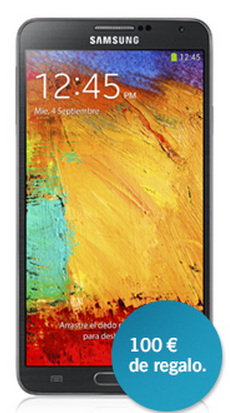GALAXY NOTE 3 CON 100€ DE REGALO: