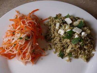 Lentil Salad & Carrot Daikon Salad