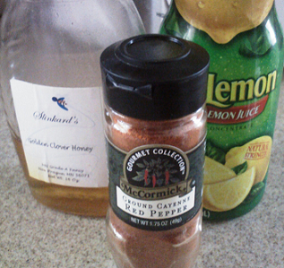 cayenne pepper, honey, and lemon juice for sore throat