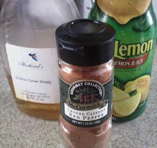 cayenne pepper, honey, and lemon juice for sore throat