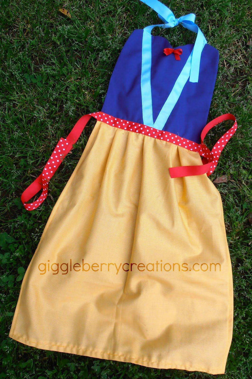 White apron sydney - Princess Dress Up Aprons