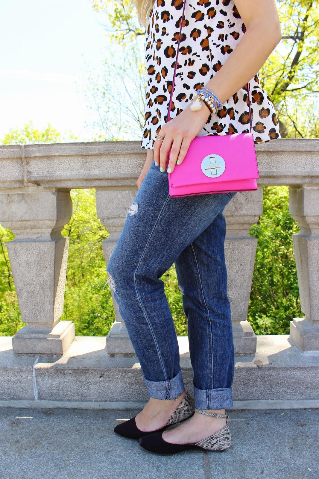 bijuleni - Kate Spade hot pink handbag