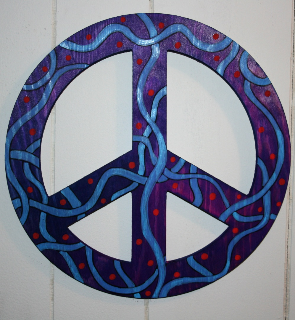 funky home decor peace sign wall art free shipping