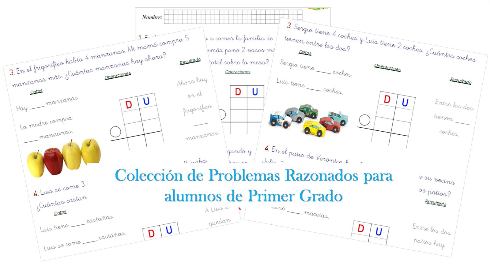 Colección de Problemas Razonados para Primer Grado