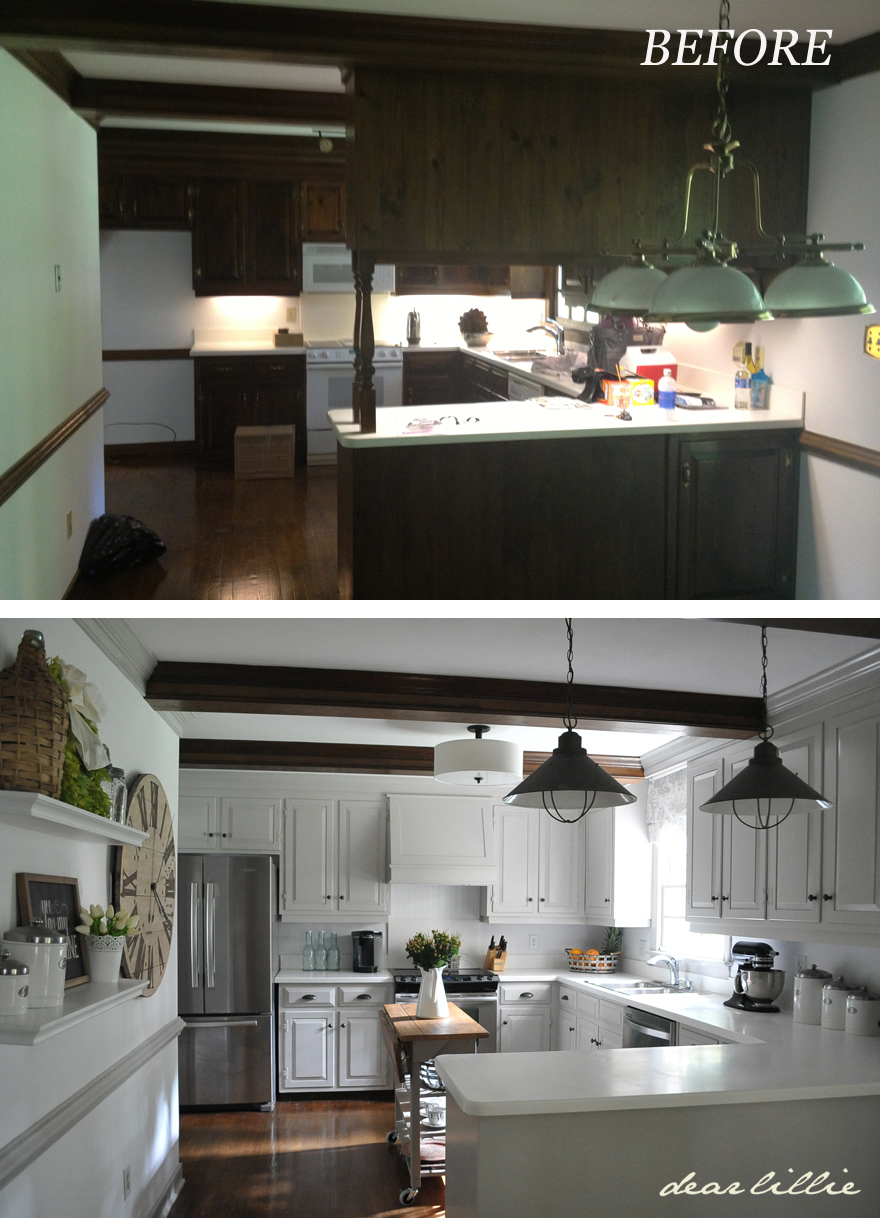 Dear lillie our kitchen makeover on a budget phase 1 for Kitchen makeovers on a budget