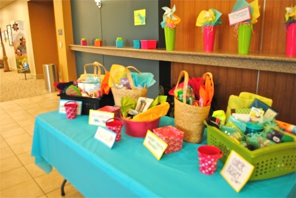 The remodeled life girls ministry event decorating details for Idea for door prizes