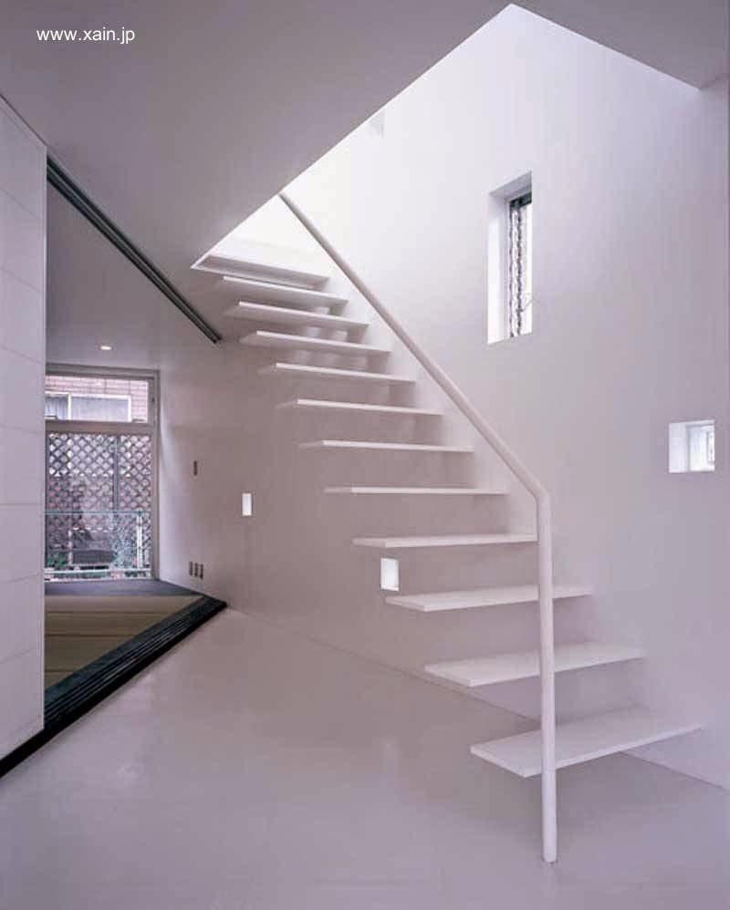 Arquitectura de casas escalera minimalista de escalones - Escaleras de casas modernas ...