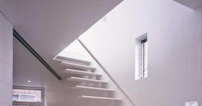 Arquitectura de casas escalera minimalista de escalones - Escalera japonesa ...