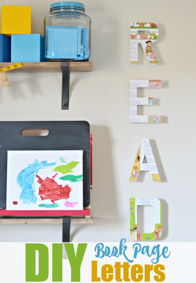 DIY: Letter Wall Decor
