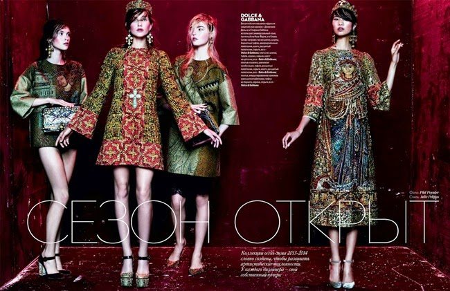 Dolce & Gabbana 2013 AW Byzantine Mosaics Prints Dress