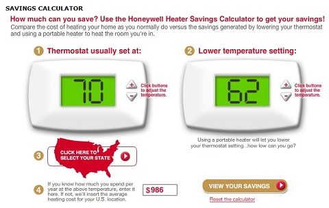 heat savings calculator