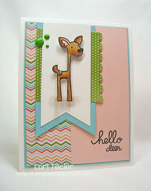 Hello Deer-designed by Lori Tecler-Inking Aloud-stamps from Paper Smooches