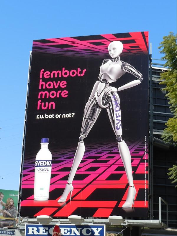Svedka fembots more fun billboard
