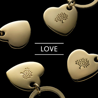 Photot of Mulberry gold heart with trademark