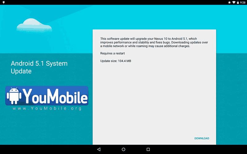 Google gulirkan update Android v5.1 untuk tablet Nexus 10