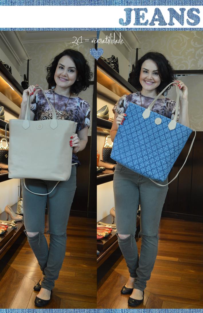 Blog de acessórios, Joinville, Blog da Jana, Bolsa jeans, jeans, Capodarte