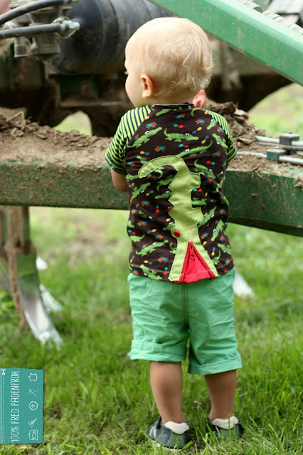 jojolino; zipp&zapp; nähen; shirt; junge; kinder; fred fadenfroh; tankstelle; krokodil; probenähen; reißverschluss; knopfleiste