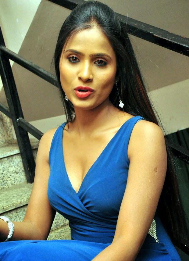 Telugu Anchor Prashanthi  In Blude dress Stills 12.jpg
