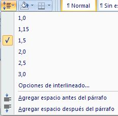 Word 2010 for En word cual es el interlineado