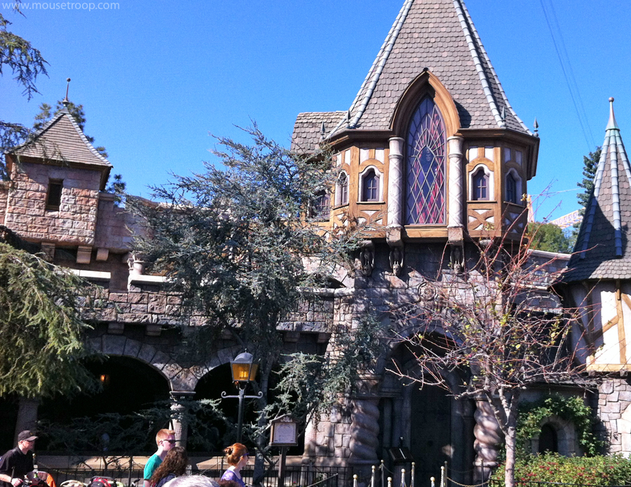 Image result for snow white's scary adventure facade disneyland ca