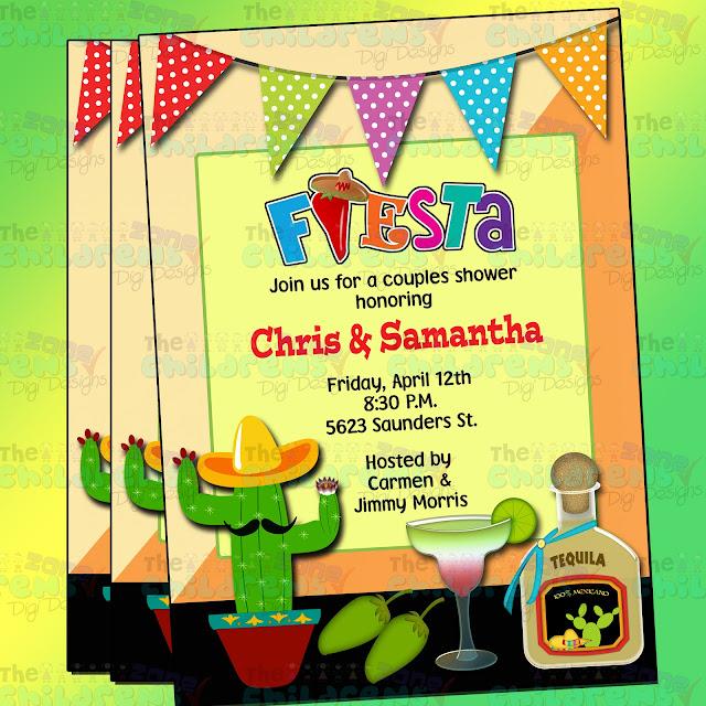 Mexican Fiesta Invitations for luxury invitation example