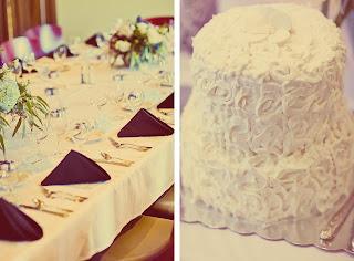 The wedding cake at Matt and Heather's wedding