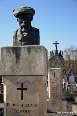 Aube - Essoyes - cimetière - tombe de Renoir
